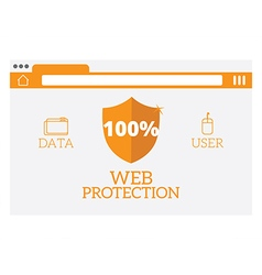 web protection vector image