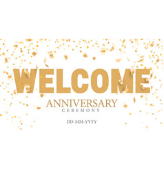 welcom golden inscription vector image