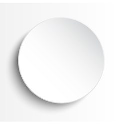 White circle empty banner on white background vector image