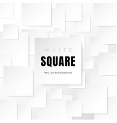 white template paper squares banner with shadow vector image