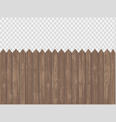 Wooden blank fence template vector