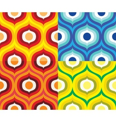 Scandinavian retro pattern vector