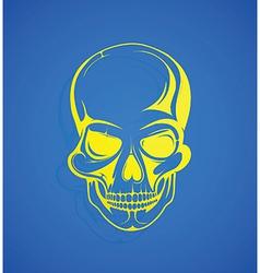 Stylised skull vector image