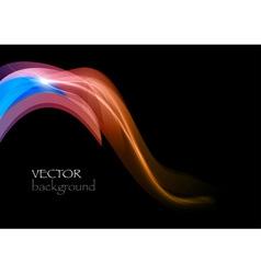 wave dark curve orange and blue vector image vector image