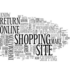 are you a savvy online shopper text word cloud vector image vector image