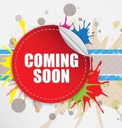 Coming soon label design vector image
