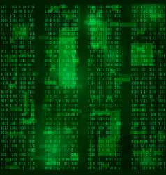 matrix coded bitstreams green background vector image vector image
