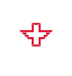 wing cross health icon vector image vector image