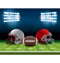 American Football Theme vector image vector image