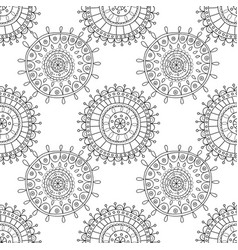 Decorative black and white seamless pattern for vector