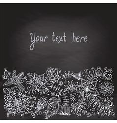 Floral doodle Vintage background vector image
