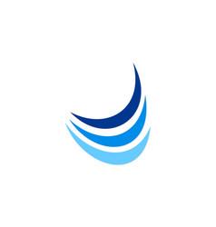 Loop air flow abstract logo vector