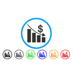 recession rounded icon vector image vector image