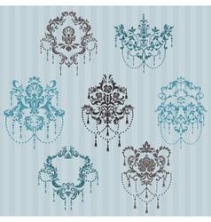 Set of ornamental DAMASK vector image