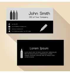 simple half black and gray business card design vector image vector image