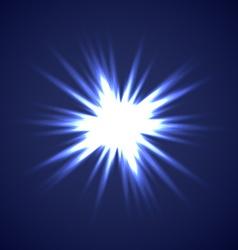 Sun Burst on Blue background vector image