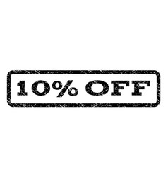 10 percent off watermark stamp vector image vector image