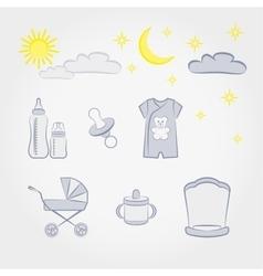 Baby fashion set vector image