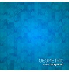 blue geometric background vector image