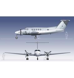 civil utility aircraft vector image vector image