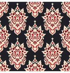 Damask seamless floral vector image