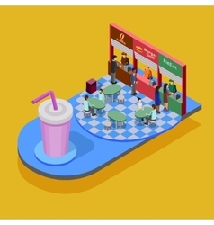 Fast Food Isometric Concept vector image vector image