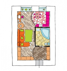 interior design apartments vector image vector image