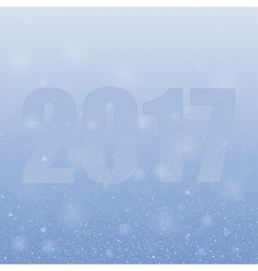 2017 Snowflakes Symbol year 2017 format vector