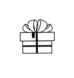 a set festive boxes with gifts tied with bows vector image