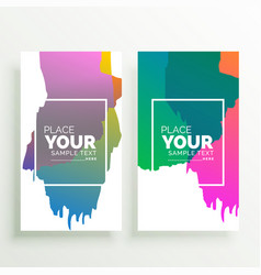 abstract colorful vertical banners design vector image