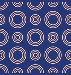 abstract seamless pattern color circles vector image