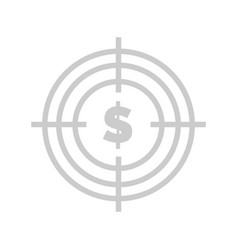 Aim with money profit from business website text vector