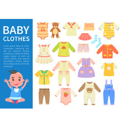 baby clothes color banner vector image