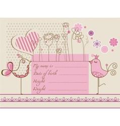 Baby girl cute card vector