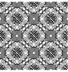 Baroque black and white modern seamless pattern vector