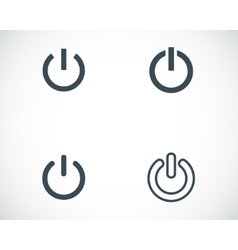 black shut down icons set vector image