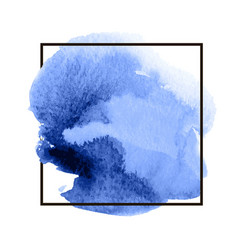 blue abstract watercolor stain vector image