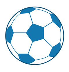 blue soccer ball vector image