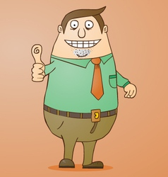 Boss cartoon vector image