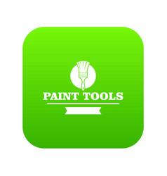 Brush tool icon green vector