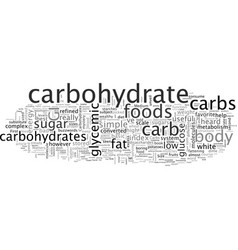 carbohydrates why size matters vector image