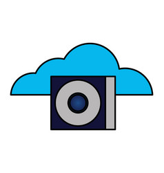 cloud computing compact disk drive vector image