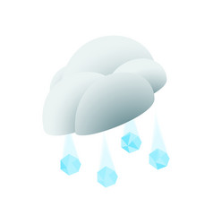 Cloud with hail icon isometric 3d style vector image