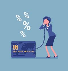 Credit card female cardholder percentage rate vector