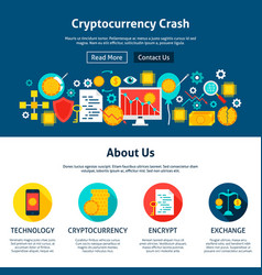Cryptocurrency crash website design vector