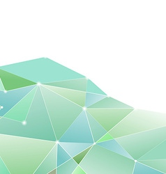 Crystal structure green border background vector image