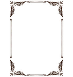 Decorative frame in vintage style vector