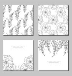 decorative greeting card or invitation vector image
