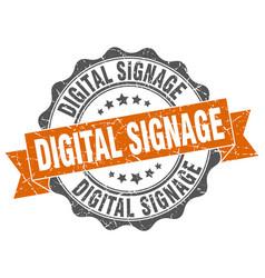 Digital signage stamp sign seal vector