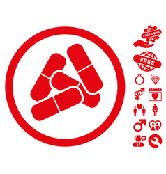 drugs icon with lovely bonus vector image